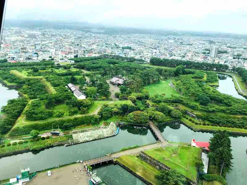 北海道 五稜郭タワーからの景色