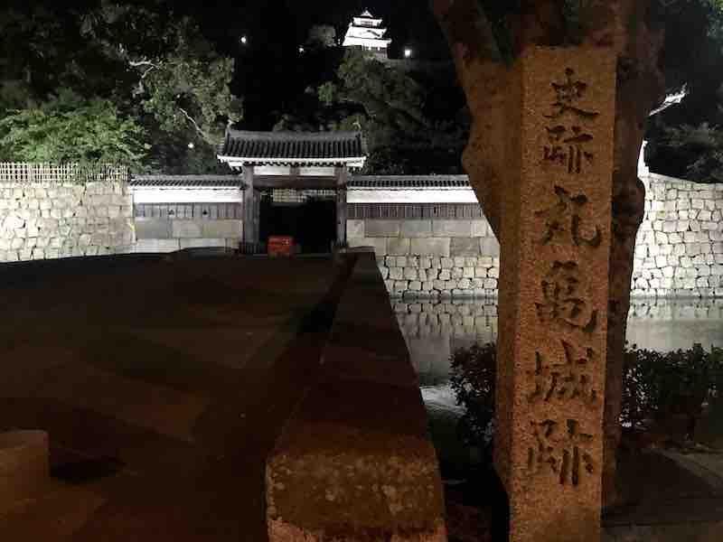 香川県 史跡丸亀城跡 夜