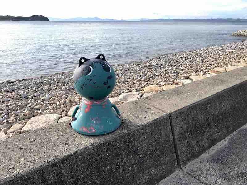 小豆島サイクリングロード猫モニュメント