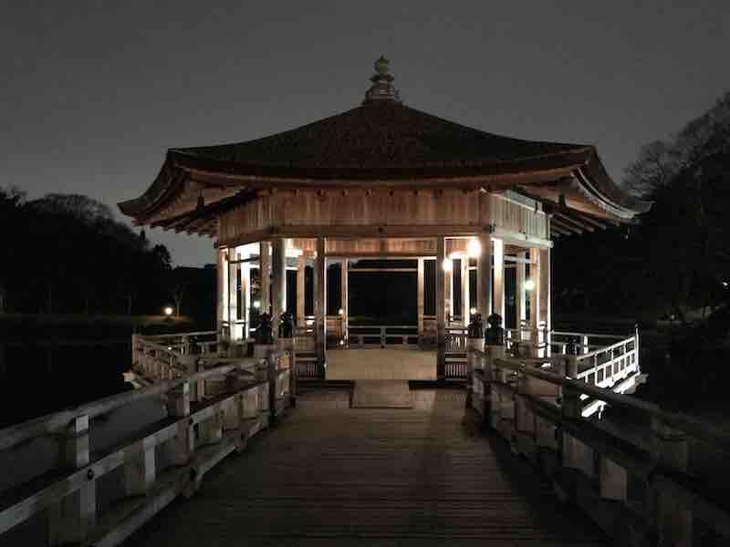 奈良県 浮御堂 夜