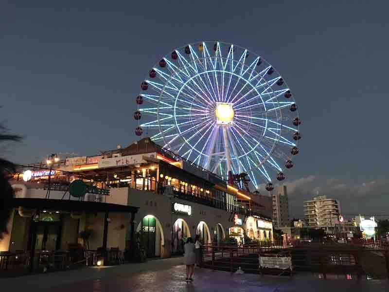 沖縄 アメリカンビレッジ 観覧車 夜