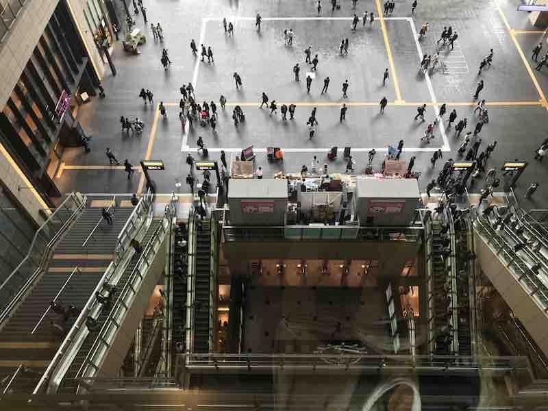 大阪駅 上から見下ろし