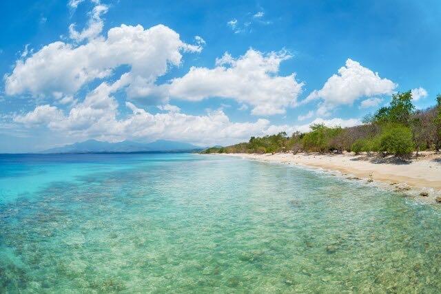 バリ島の美しいビーチと海の写真