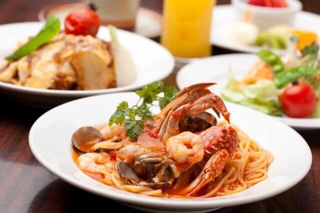 魚介類のイタリア料理 イメージ