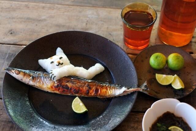 秋刀魚と大根おろし