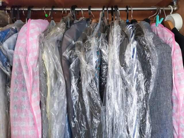 クリーニングされたスーツなど衣類