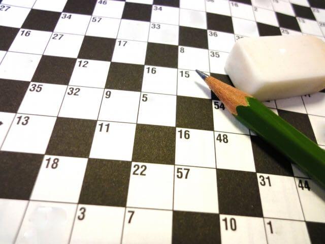 クロスワードパズル 鉛筆と消しゴム