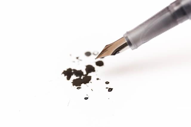 液漏れの万年筆