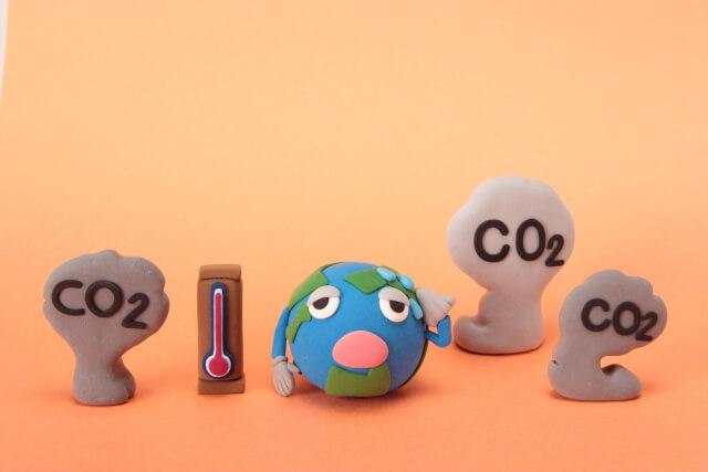 二酸化炭素による地球温暖化のイメージ