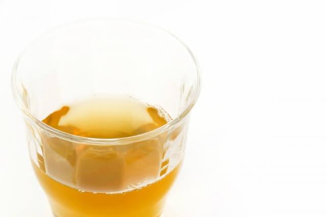 ガラスコップのもろみ酢