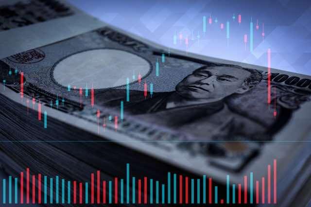 円の株価暴落のイメージ