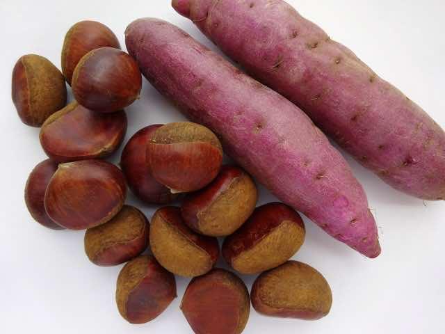 栗とサツマイモ