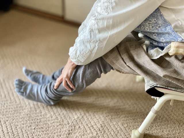 床ずれ予防のセルフマッサージのイメージ