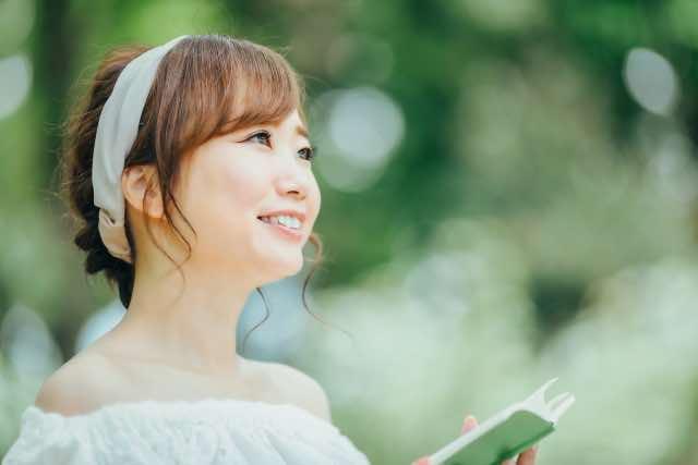 読書で笑顔