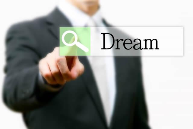 夢を検索する男性のイメージ
