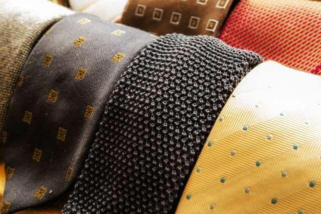 ネクタイのコレクション