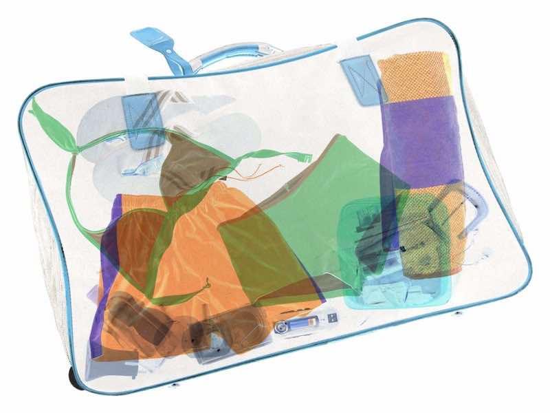 X線を通した荷物のイメージ