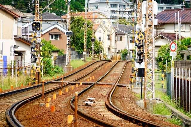 線路とのどかな風景