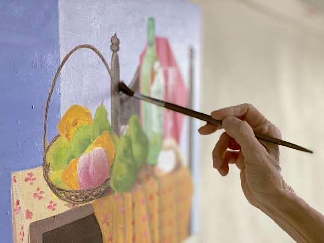 絵画作品の制作