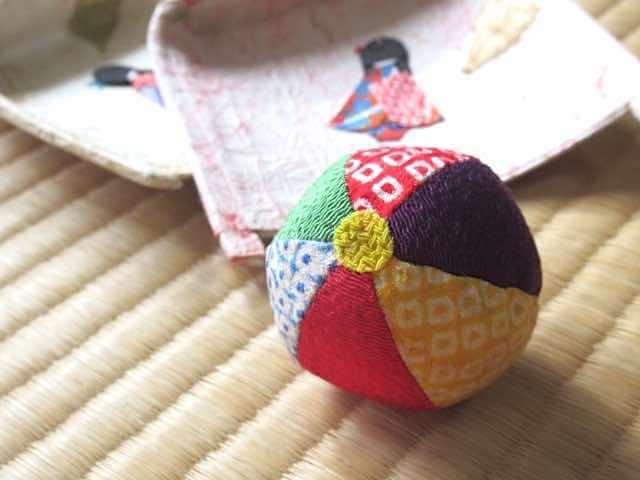 日本の伝統工芸 ちぎり絵 お手玉