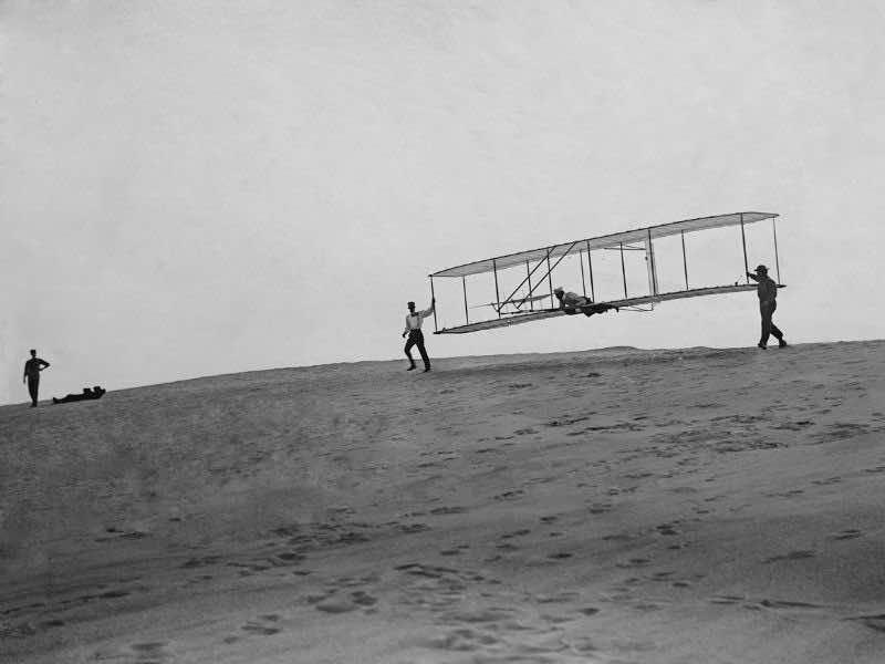 ライト兄弟の飛行のイメージ