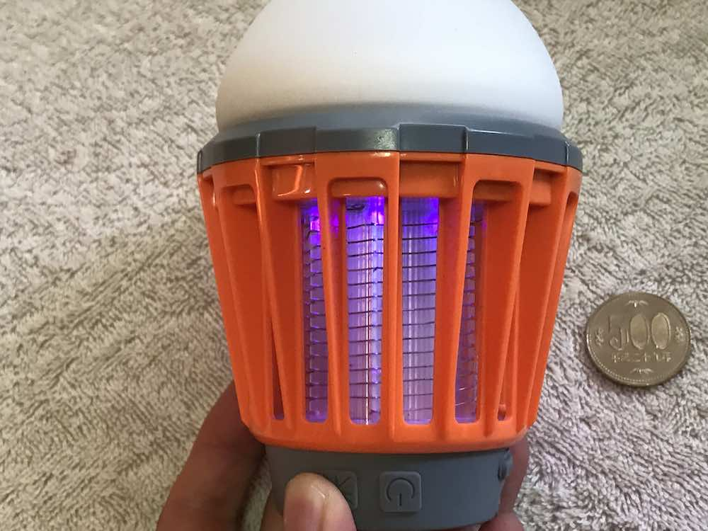 電撃LEDのライト(電撃モード)