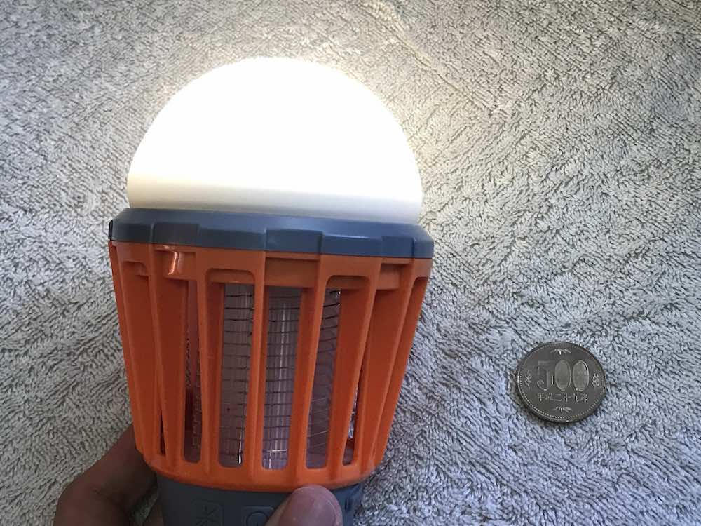 電撃LEDのライト(点灯時)